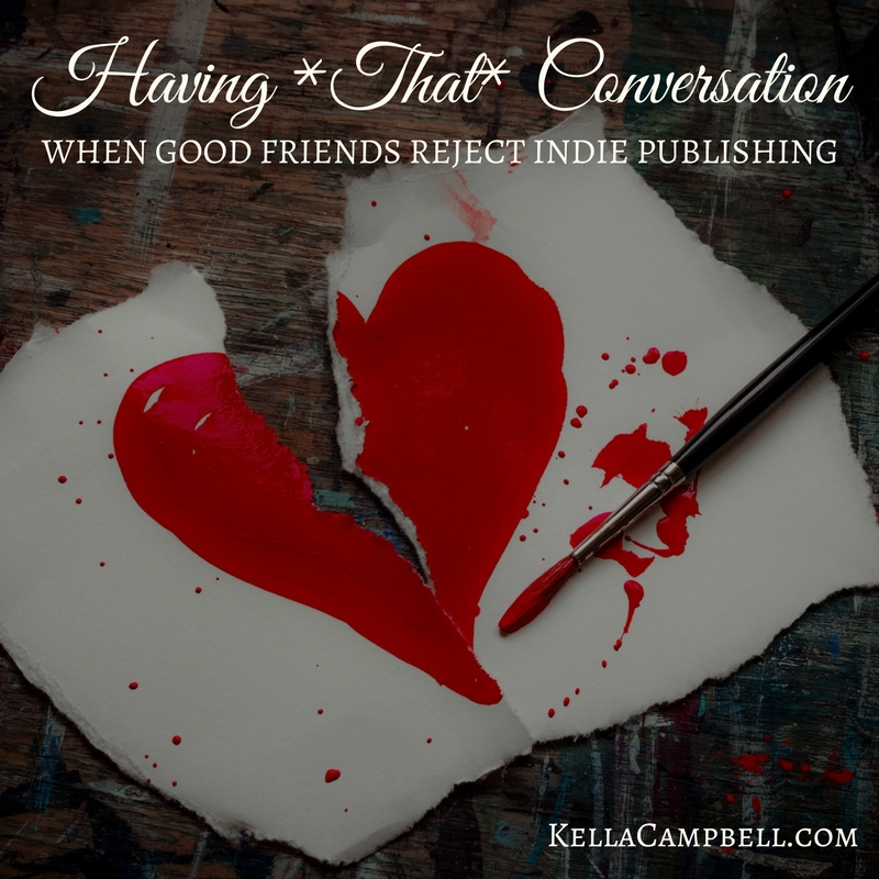 Image of a ripped heart — Having *That* Conversation: When Good Friends Reject Indie Publishing